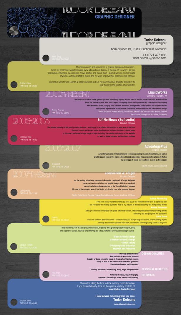 35 ejemplos de cómo hacer un CV creativo |