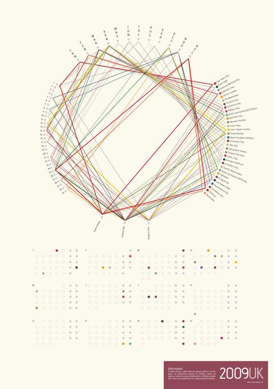 Lines calendar