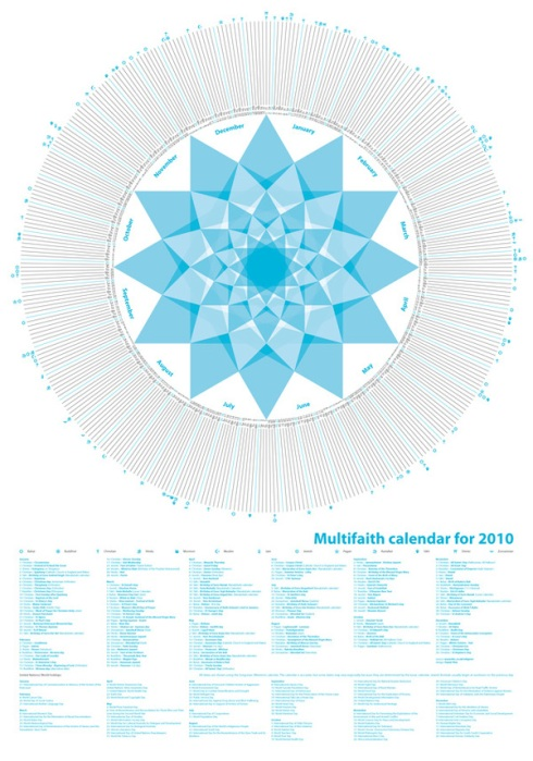multifaith calendario