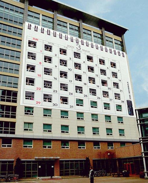 AXE calendario edificio