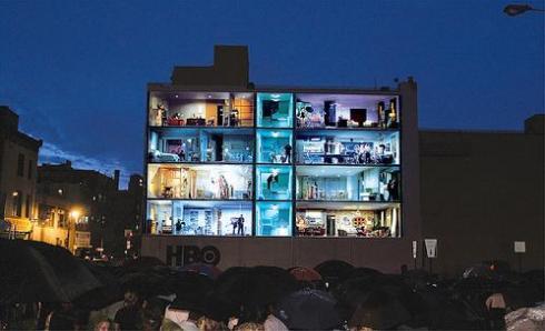HBO edificio publicidad