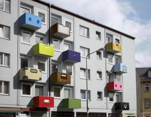 IKEA edificio publicidad