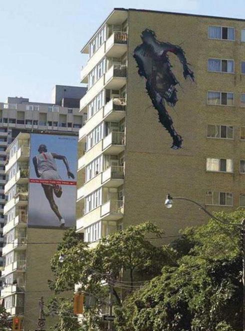 Nike running edificio