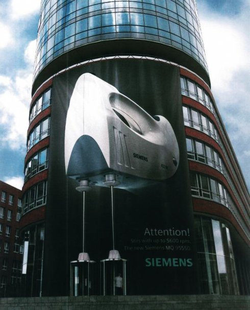 Siemens edificio publicidad